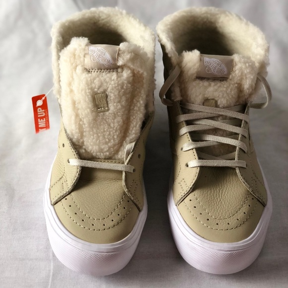8956c239ad106a Vans SK8-Hi Reissue Li Sherpa Cement True White